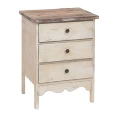 Distressed Ivory 3-Drawer End Table | Kirklands Microwave Table?!