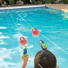 Super fun and easy idea to do with kids-  SQUIRT GUN RACES:  http://www.thisgrandmaisfun.com/squirt-gun-races/
