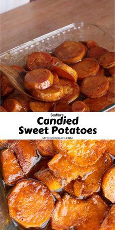 Sweet Potato Side Dish, Potato Side Dishes, Vegetable Dishes, Baked Sweet Potato Slices, Potato Sides, Recipe For Fried Sweet Potatoes, How To Cook Sweet Potato, Southern Sweet Potato Recipe, Canned Sweet Potato Recipes