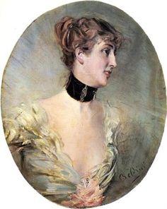 """""""The Countess Ritzer"""", c. 1890s, by Giovanni Boldini (Italian, 1842-1931)."""