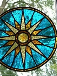 Stained Glass Compass Rose   FAVS   Pinterest