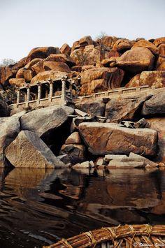 Rishyamukh Hill, Karnataka, India Looks like something out of Indiana Jones. India Live the Everyday Hampi India, Karnataka, Places To Travel, Places To Visit, Travel Destinations, India Live, Indian Architecture, India Travel, India Trip