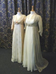 My favorite type of regency gown—modest and delicately beautiful with a…