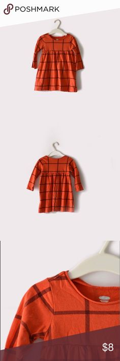 Old Navy Red Grid Print Dress Old Navy | size 12-18 months | long sleeves | red grid print throughout | all pictures taken by me, product shown as is Old Navy Dresses Casual