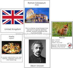 Euorpe Montessori style Geography Bundle Pack, $6.00