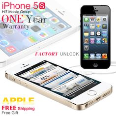 #Apple #Iphone 5S Phone 5S iOS 4.0 inches Touch Screen GPG 8MP Camera 1GB RAM 16GB ROM