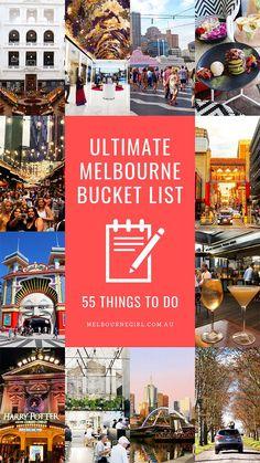 The Ultimate Melbourne Bucket List: 55 things to do - Australia (Oceania) Perth, Brisbane, Melbourne Australia, Melbourne Docklands, Melbourne Travel, Visit Melbourne, Great Barrier Reef, Australia Travel Guide, Australia Tourism