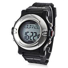 Unisex cardiofrequenzimetro conta calorie del silicone di stile digitale orologio automatico da polso (nero) – EUR € 16.55