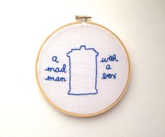 Doctor Who: TARDIS/Mad Man With a Box Hand Embroidery in 6 Inch Hoop
