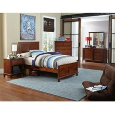 Simple, space saving style that highlights classic wood construction is the hallmark of the Chadwick Panel Bed. The mission oak or white finish brings a sophisticated touch to this beautiful panel bed. Available in twin and full size.