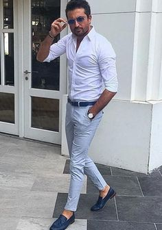 Wow casual mens fashion that look stunning 410025 Stylish Men, Men Casual, Best Dress Shirts, Style Masculin, Look Man, Herren Outfit, Well Dressed Men, Gentleman Style, Looks Style