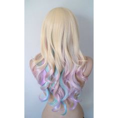 © 2013 Kekewigs This hairstyle was created by Keke in the images are copyrighted. Please do not use the photos for commercial purposes. Color: Blonde hair with pastel pink, lavender, and aqua…More Silver Purple Hair, Brown Ombre Hair, Blonde Ombre, Blue Hair, Blond Pastel, Blonde With Pink, Pastel Pink, Ombre Hair Color, Cool Hair Color
