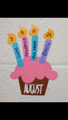 Birthday display for school. Stays up all year.