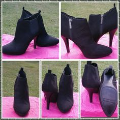 """Nine West ankle boots size 10 Cute black Nine West booties / ankle boots with side zipper. 5"""" heels look great with any outfit especially skinny jeans! Great condition, worn twice, looking for a new home! Nine West Shoes Ankle Boots & Booties"""