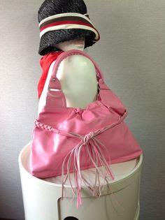 COMME des GARCONS JUYA WATANABE Pink Leather Fringe Detail Handbag 937