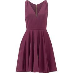 allison parris Purple Marilyn Dress ($25) ❤ liked on Polyvore featuring dresses, purple dress and purple cocktail dresses