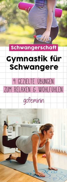 Schwangerschaftsgymnastik: 9 gezielte Übungen zum Relaxen & Wohlfühlen The thicker the belly becomes, the more difficult the everyday life of a pregnant woman becomes. A bit of sport can work wonders … Pregnancy gymnastics pregnancy sports Yoga Fitness, Health Fitness, Fitness Exercises, Diy Y Manualidades, Pregnancy Information, Lose Arm Fat, Baby Hacks, Pregnancy Tips, Pregnancy Humor