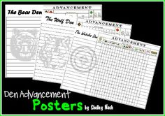 Den Advancement Posters