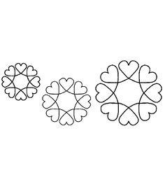 Quilt Stencils-4'', 5'' & 7'' Blocks 8'' X 18''