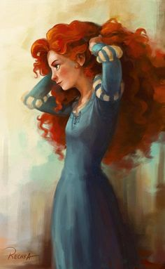 #illustrations & #sketches - Lovely portrait of Merida, an admirable disney character, In control of her own destiny :) watch me choose mine!