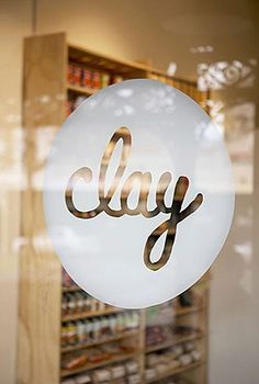 Beautiful storefront typography, window decals. Follow us at www.birdaria.com. Love it, Like it, Pin it!!!