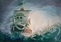 One Piece ~ The Going Merry --this is an amazing drawing! <3