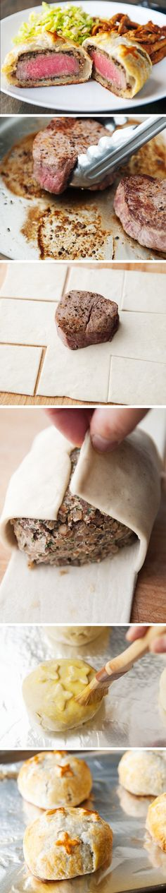 Individual Beef Wellingtons   Click Pic for 22 Easy Romantic Dinner Recipes for Two   Easy Valentines Dinner Ideas for Him
