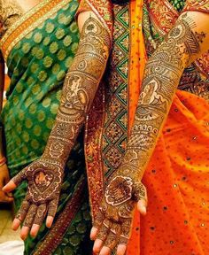 Latest Mehndi/Henna Designs For Indian And Pakistani Brides From 2014