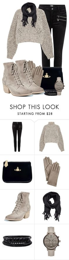 """""""Chunky Sweater"""" by tlb0318 on Polyvore featuring Paige Denim, Isabel Marant, Vivienne Westwood, Charter Club, Jeffrey Campbell, MANGO, Spring Street and MVMT"""