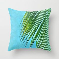 Beach Pillow Cover, Tropical Decor, Beach Decor, Palm Tree, Dorm Room