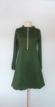 Fleecekjole str.40 Handmade Dresses, High Neck Dress, Fashion, Turtleneck Dress, Moda, Fashion Styles, Fashion Illustrations, Handmade Clothes, High Neckline Dress