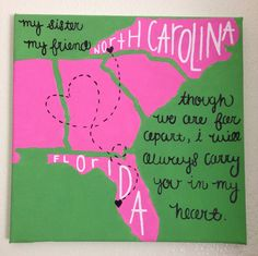 States Canvas by TheHappyPrepster on Etsy