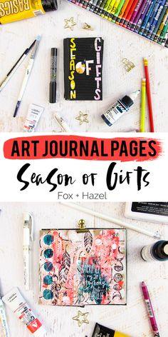 Fox + Hazel: Art Journal Season of Gifts