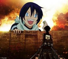 Surprise Eren!!! Noragami x Attack on Titan crossover