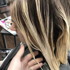 Full head paint + chop from yesterday. She lifts so nice I hardly have to tone it! Just glossed with 9/0 color touch for softness. #maeipaint #btconeshot_quickie17