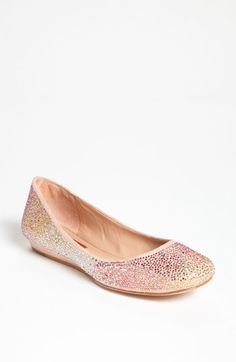 light blush sparkly flats