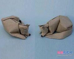 睡觉的狗狗手工折纸教程