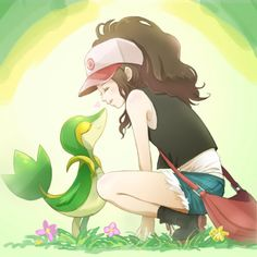 Snivy and Touya
