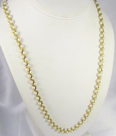30% off Sale until 11/21/15 25% off until Christmas! A beautiful and unique faux #pearl necklace.  This amazing item is unlike any #necklace we have had in our shops.  It combines gorgeous #gold tone met... #vintage #diamonds #rings #judysgems2 #teamlove #jewelry #gift