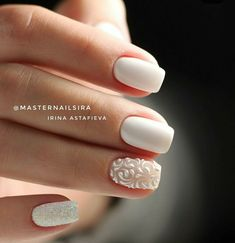 35 Simple Ideas for Wedding Nails Design - Diy Wedding Nails - Nageldesign Simple Wedding Nails, Wedding Nails For Bride, Bride Nails, Wedding Nails Design, Bride Wedding Nails, Wedding Makeup, Wedding Manicure, Pretty Nails, Cute Nails
