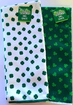 St. Patrick's Day Shamrock Kitchen Bar Lounge Irish Pub Hand Towels Great for Decoration Cooking Use or Bathroom, Set of 2 Greenbrier http://www.amazon.com/dp/B00SAET0DQ/ref=cm_sw_r_pi_dp_sYAUvb1WACS42