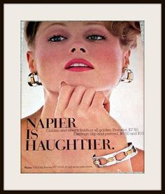 Napier is Haughtier, Napier Jewelry Ad, 1970's