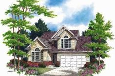 Traditional Style House Plan - 4 Beds 2.5 Baths 1994 Sq/Ft Plan #48-137 Front Elevation - Houseplans.com