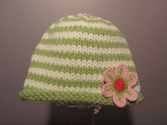 Knitted Baby Hat  Striped Knit Baby Hat with by UpNorthKnits, $26.00