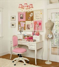 Girly Desks cute office, love the chair! | for the home | pinterest