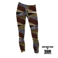Chocolate bars in foil Thekawr performance leggings design concept.