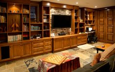 built in bookcase with flat screen tv - Google Search