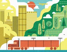 We worked with Metaleap Creative in Atlanta to create a series of editorial illustrations for In Touch Magazine. City Illustration, Portfolio, Flat Design, Motion Graphics, Solar, Animation, Colours, Shapes, Illustrations