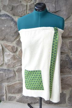 How to sew a spa wrap from terrycloth fabric.