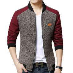 Stylish Fitted Stand Collar Labeling Color Block Fabric Splicing Long Sleeve Polyester Jacket For Men Mens Fashion Suits, Mens Suits, Mode Man, Designer Suits For Men, Stylish Mens Outfits, African Men Fashion, Dapper Men, Blazers For Men, Mens Clothing Styles